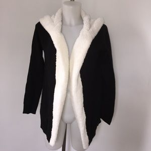 No Comment Hooded Cardigan